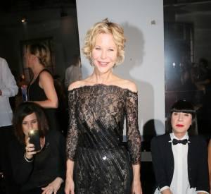 Meg Ryan en front row du défilé George Chakra pour la collection Haute Couture automne-hiver 2012-2016.
