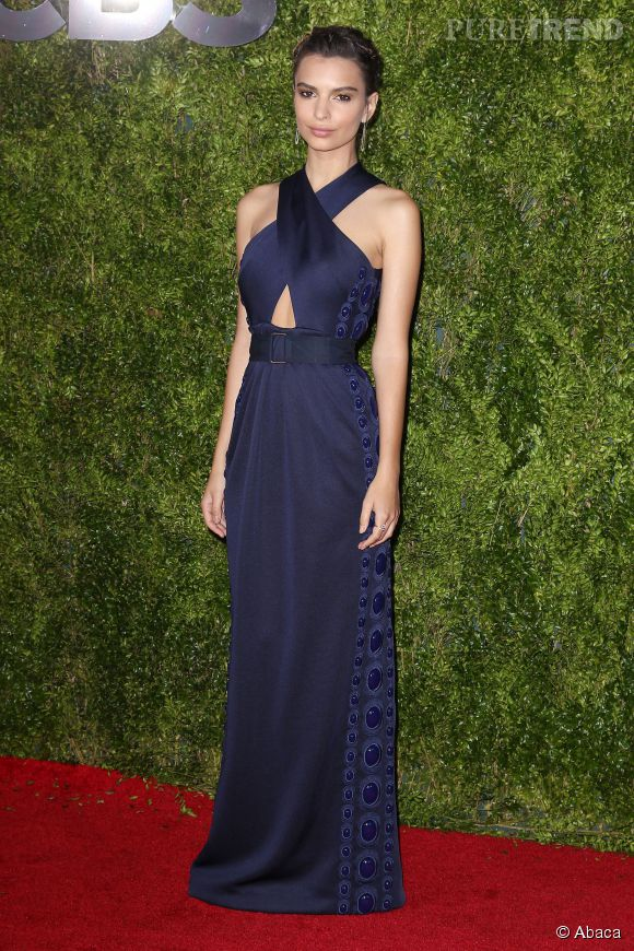 Emily Ratajkowski, chic à souhait aux Tony Awards en juin dernier.