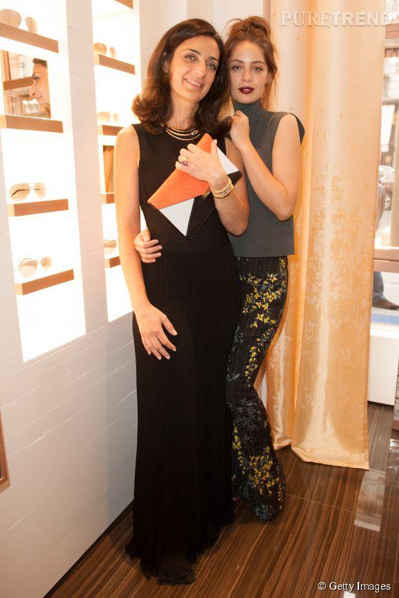 Marie-Ange Casta posant aux côtés de Rachel Marouani, la présidente de la marque Fred.