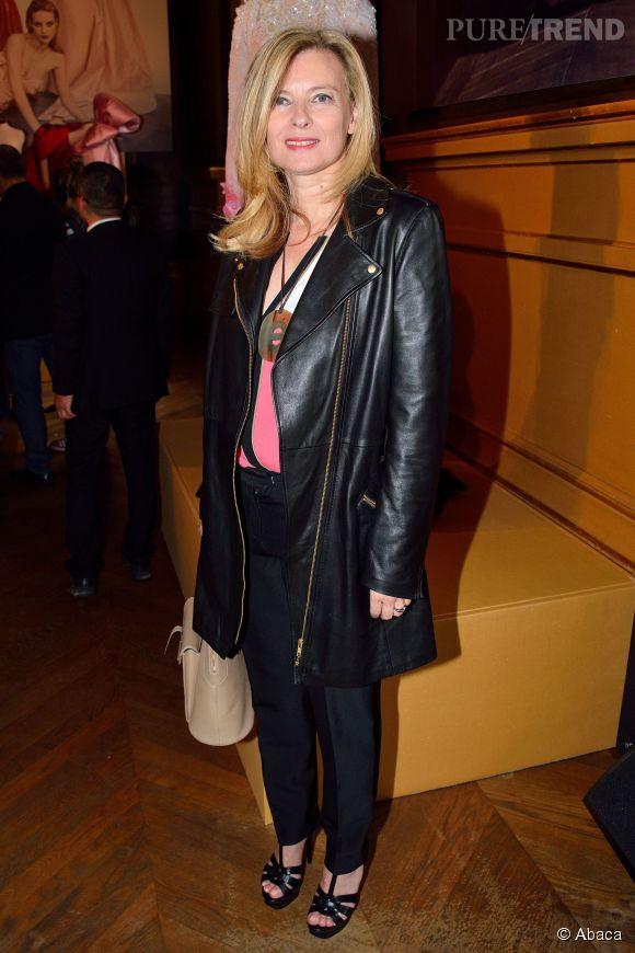 Valérie Trierweiler a fait sensation au défilé Alexis Mabille.