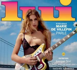 Marie De Villepin en couverture du magazine Lui pour le numéro double juillet-août 2015.