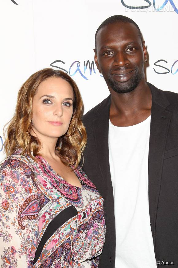 omar sy et sa femme h l ne un couple magnifique sur le tapis rouge new yorkais. Black Bedroom Furniture Sets. Home Design Ideas