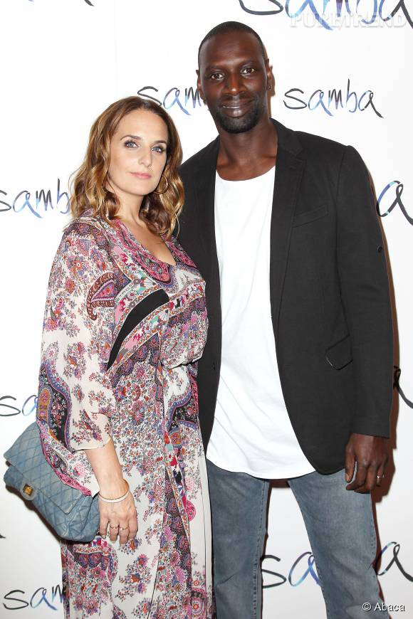 omar sy et sa femme ont pris la pose l 39 avant premi re new yorkaise de samba le 16 juillet. Black Bedroom Furniture Sets. Home Design Ideas