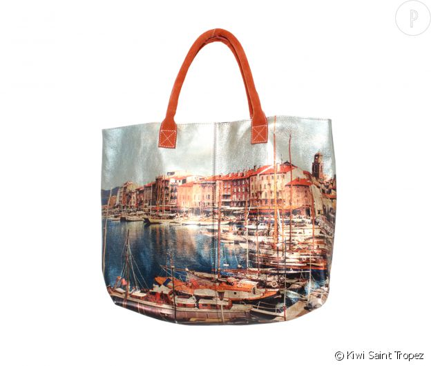 "Kiwi Saint Tropez Sac ""Gloss Saint Tropez"" en cuir brillant, 195€."
