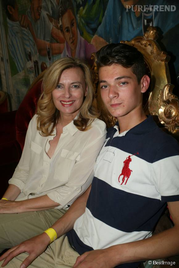 Valérie Trierweiler, très proche de son fils Léonard.