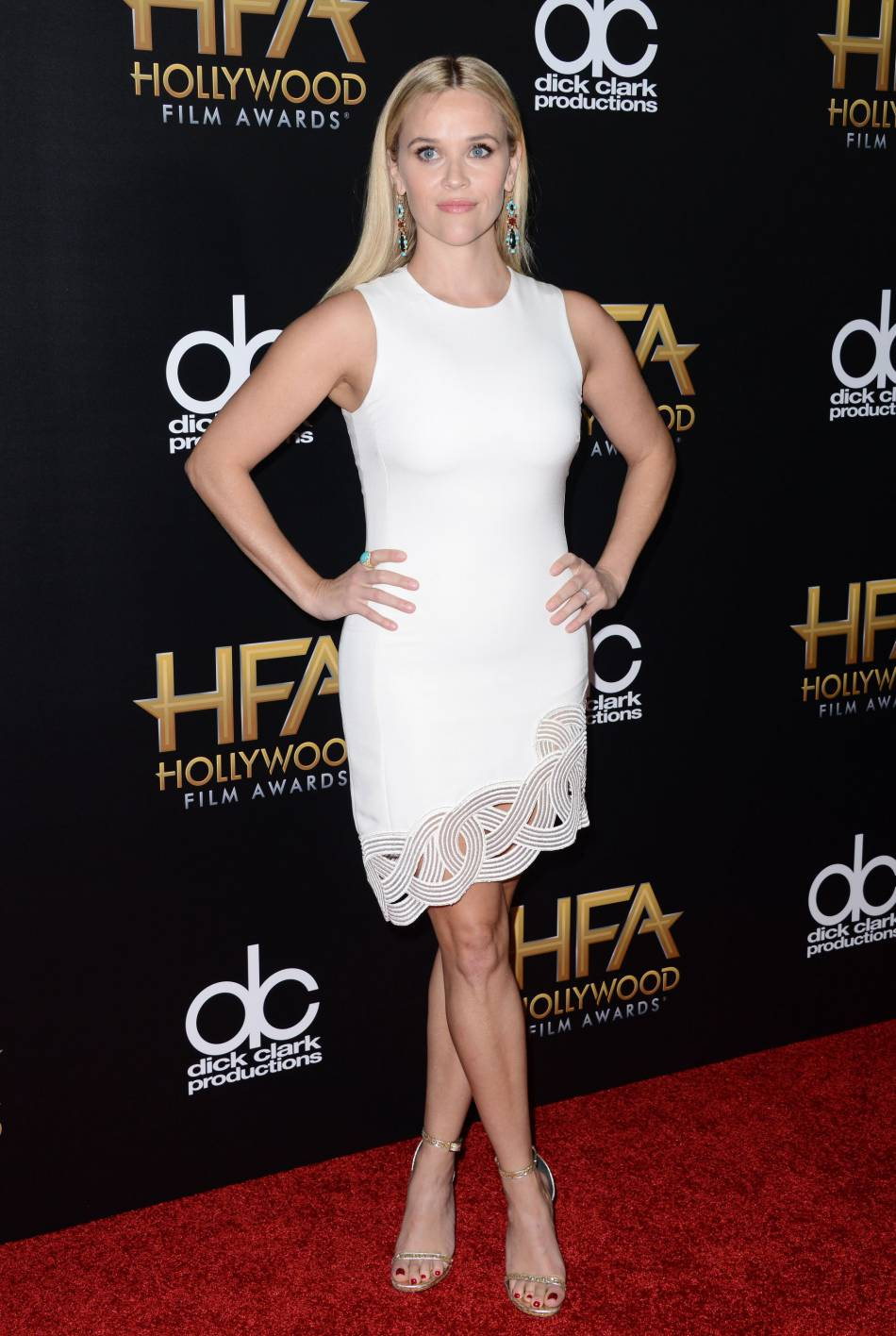 Reese Witherspoon sur le red carpet des Hollywood Film Awards le 1er novembre 2015 à Los Angeles.