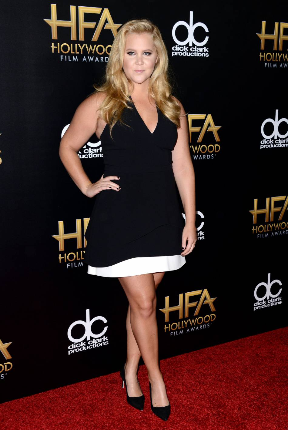 Amy Schumer sur le red carpet des Hollywood Film Awards le 1er novembre 2015 à Los Angeles.