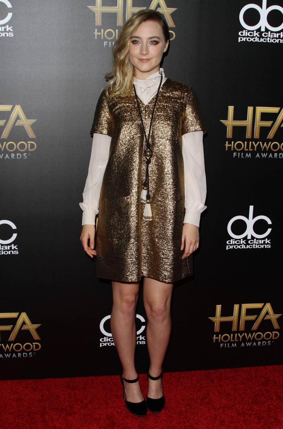 Saoirse Ronan sur le red carpet des Hollywood Film Awards le 1er novembre 2015 à Los Angeles.