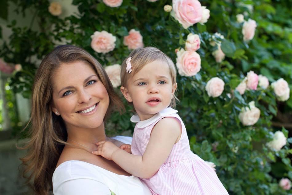 Madeleine de Suède et sa fille aînée, Leonore.