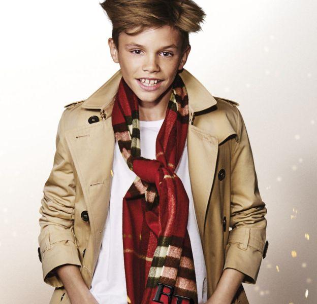 Romeo Beckham, héros de la campagne de Noël de Burberry.