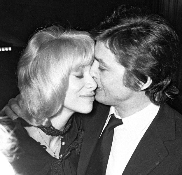 Mireille Darc et Alain Delon, un couple mythique.
