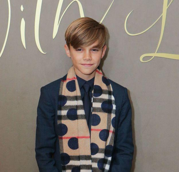 Romeo Beckham, impeccable égérie Burberry, mardi 3 novembre à Londres.