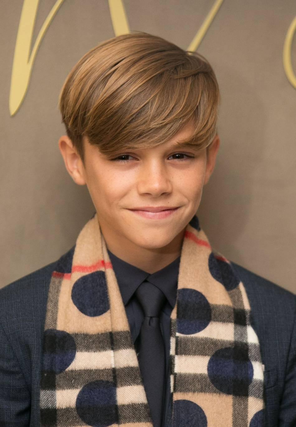 Romeo Beckham, 13 ans et déjà mannequin.