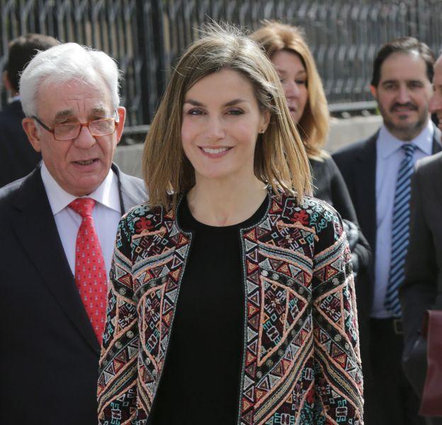 Letizia d'Espagne lors de sa visite au centre hospitalier universitaire en pédiatrie Niño Jesus à Madrid.