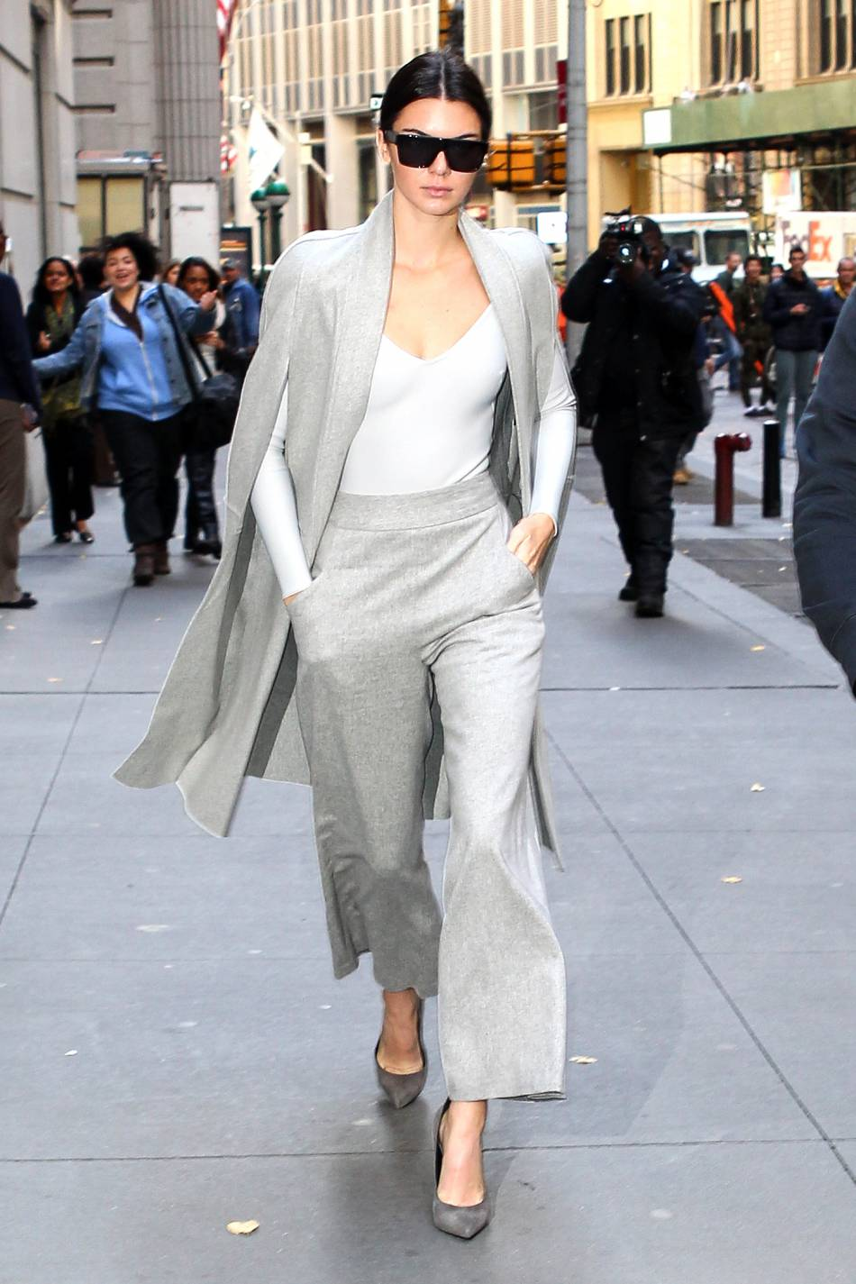 Kendall Jenner semble parfaitement ravie du résultat de sa statue chez Madame Tussauds.