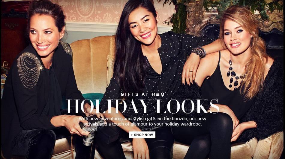 Le Noël familial d'H&M avec Christy Turlington et Doutzen Kroes en 2013.