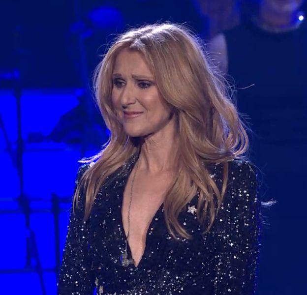 Céline Dion en larmes mardi 23 février pour son retour sur scène.