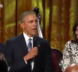 Barack Obama fait le show pour le concert en hommage à Ray Charles.