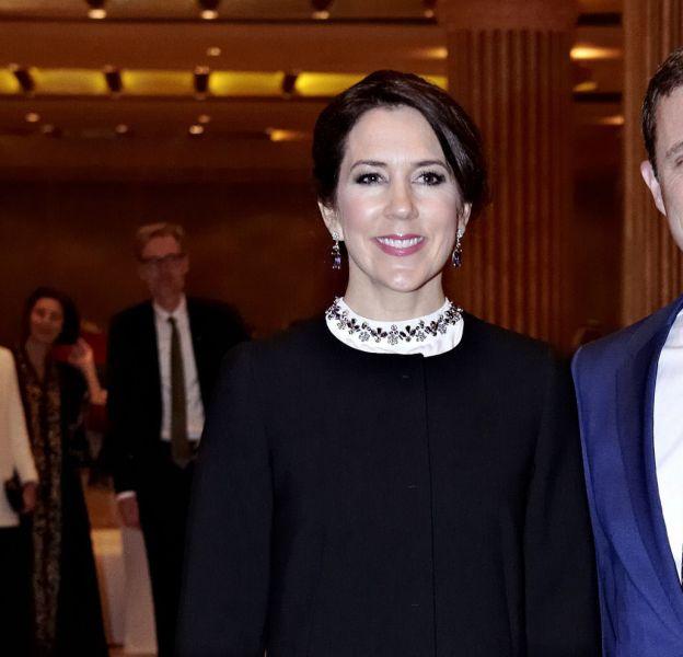 Mary de Danemark et le prince Frederik à Riyad en Arabie saoudite.
