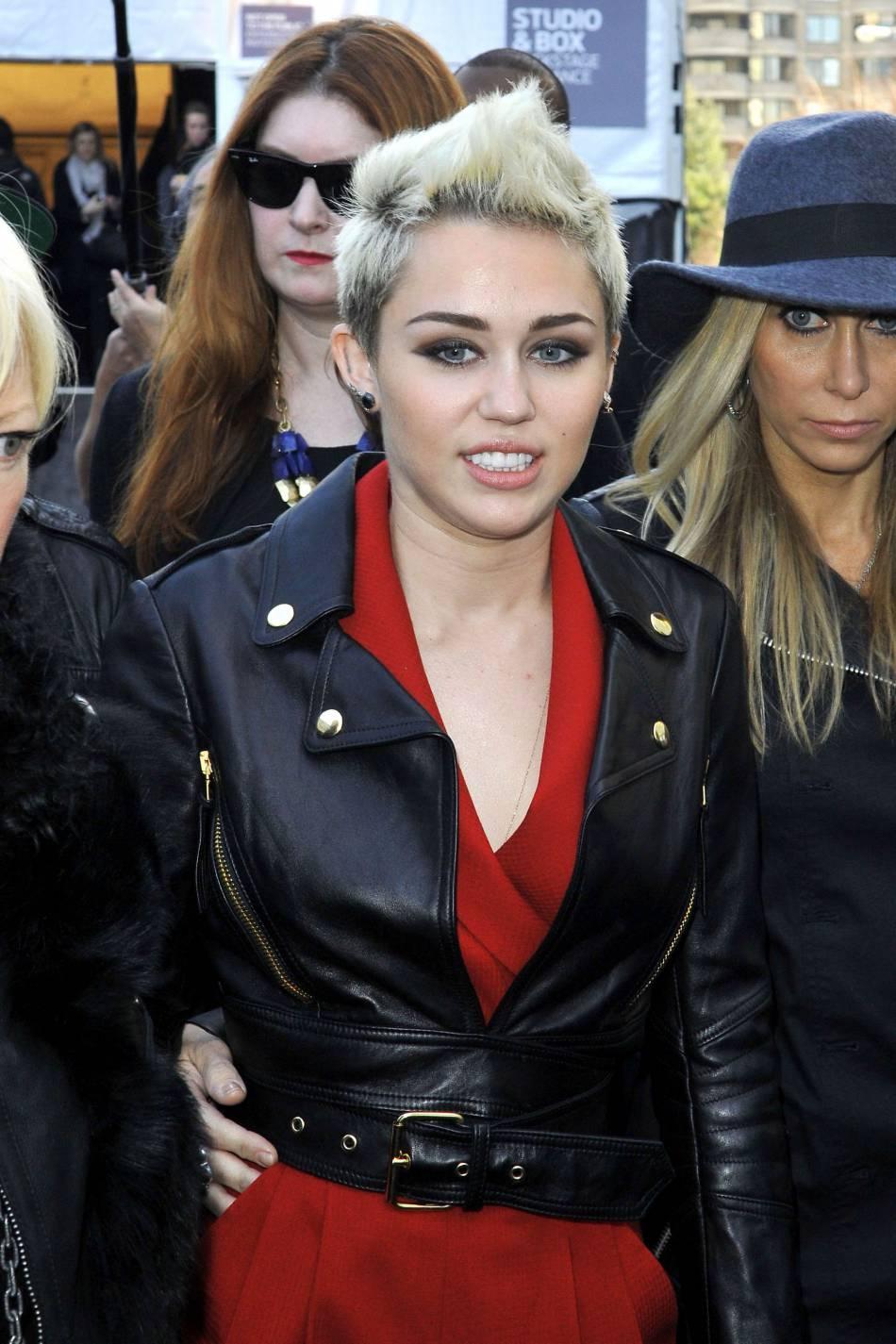 Miley Cyrus arborait le même genre de coiffure en 2013.