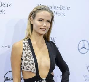 Natasha Poly lors du vernissage de la Mercedes Benz Fashion Week de Berlin, le 21 janvier 2016.