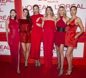 """Natasha Poly à la soirée """"L'Oréal Paris Red Obsession"""" à Paris le 8 mars 2016."""
