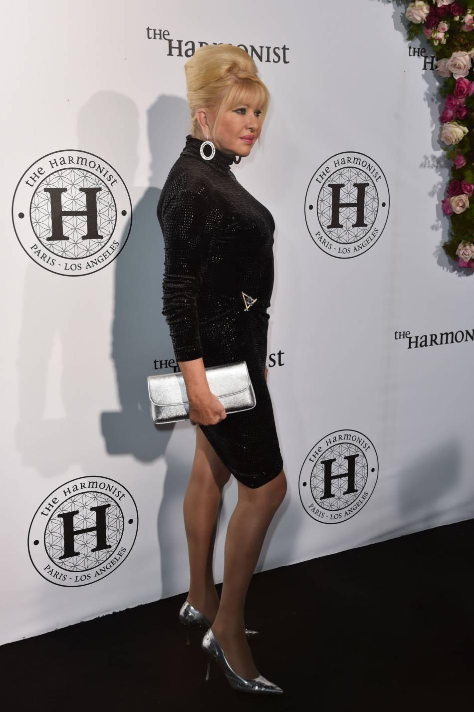 """Ivana Trump au photocall de la soirée """"The Harmonist"""" lors du 69ème Festival International du Film de Cannes."""