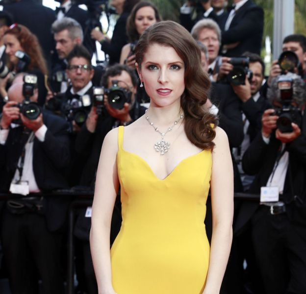 Dans cette robe Stella McCartney, Anna Kendrick est très glamour.