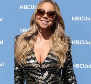 Mariah Carey : ultra moulée en micro robe tigrée, elle frôle le drame (photos)
