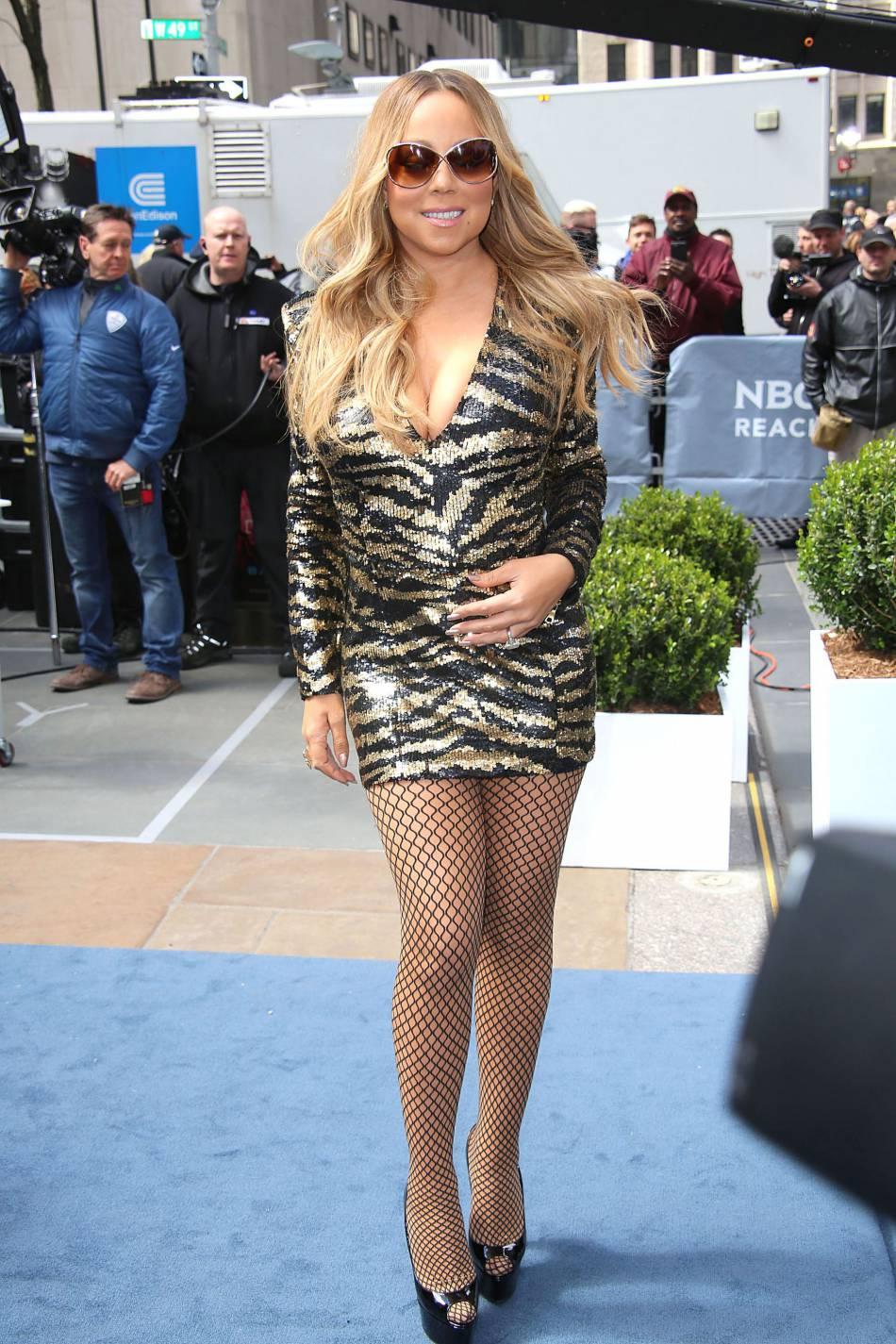 """Mariah Carey au photocall de l'événement """"NBC Universal Upfront"""" au Rockfeller Center à New York le 16 mai 2016."""