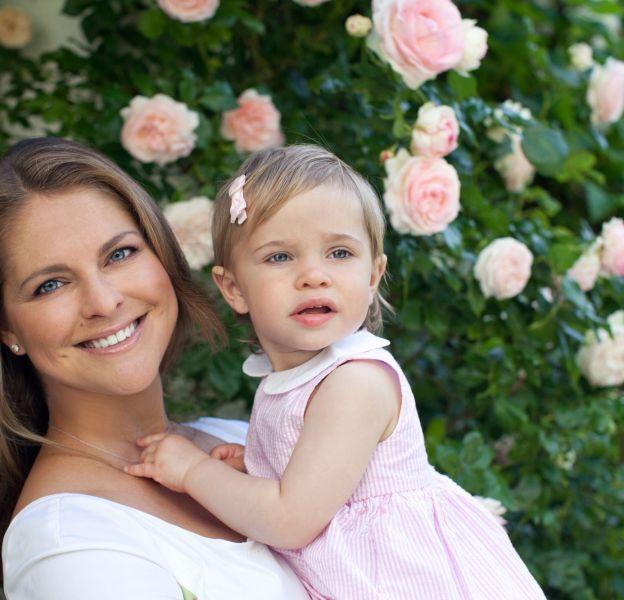 La princesse Madeleine de Suède et sa fille, la princesse Leonore en vacances d'été à la villa Solliden à Borgholm. Le 22 juillet 2015.