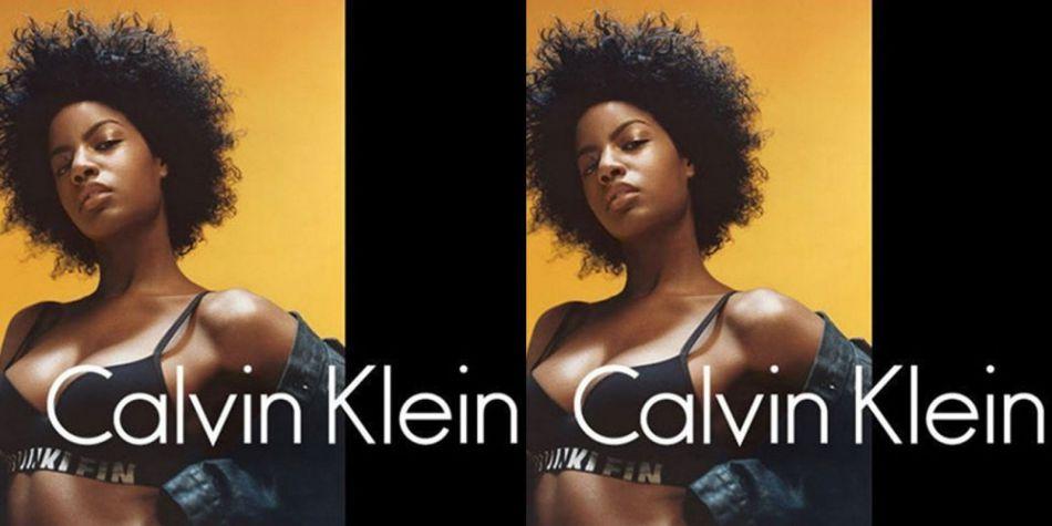 Ebonee Davis, nouvelle égérie Calvin Klein.