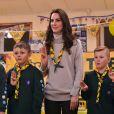 Kate Middleton rend visite aux enfants scouts.