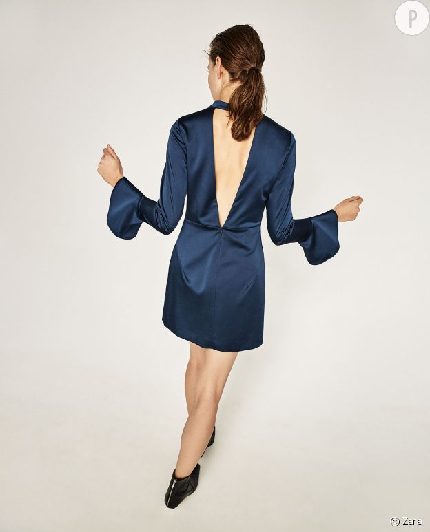 Robe satinée, Zara, 39,95€.