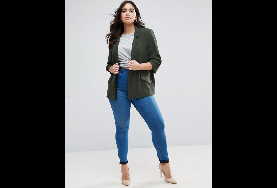 veste en jean femme ronde