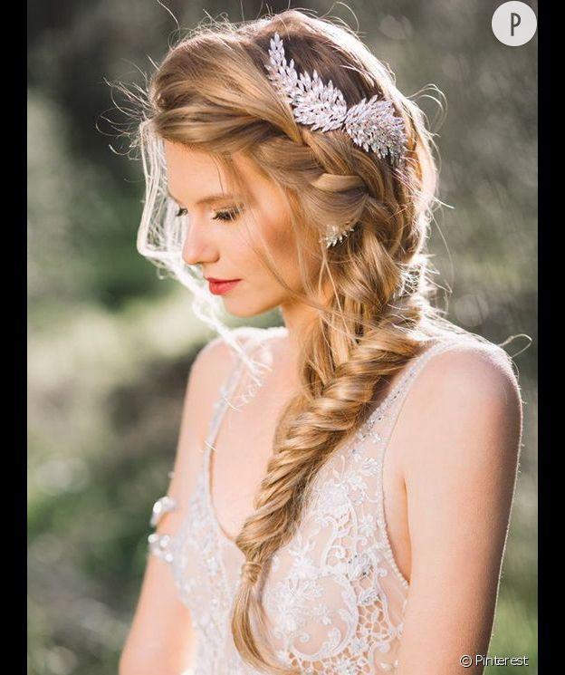 Inspirations coiffure pour mariées : la tresse épi
