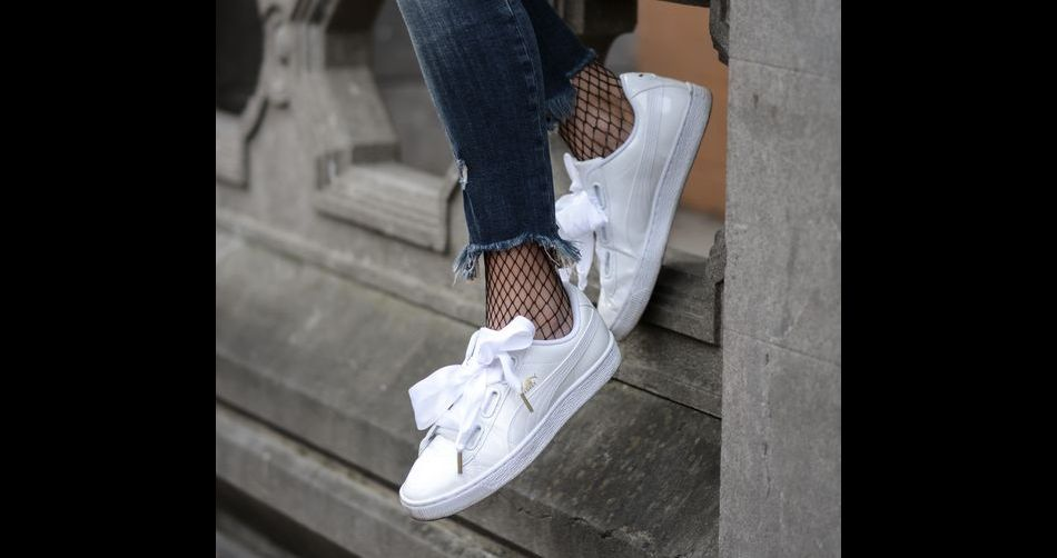 Ces sneakers aux noeuds rubans qui nous font craquer - Lacet ruban pour chaussure ...
