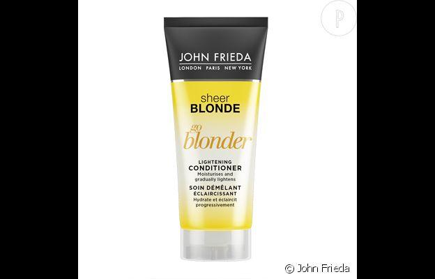 Sheer Blonde, soin démêlant éclaircissant, John Frieda, 9€.