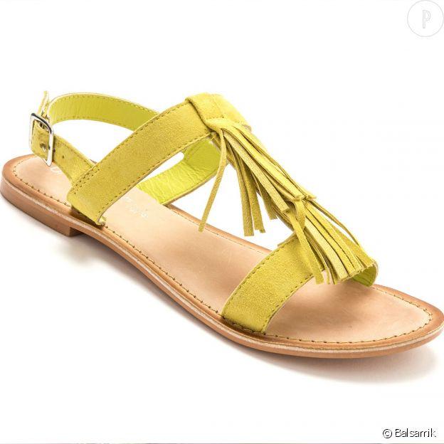 Sandales plates à franges Balsamik.