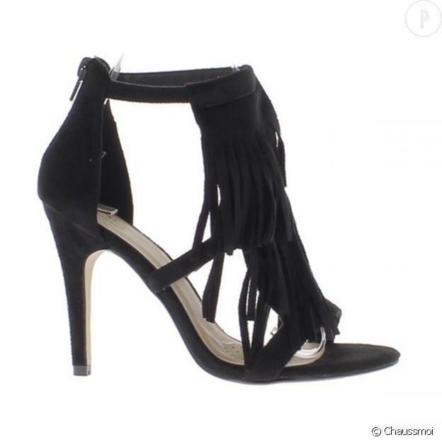 Sandales talons franges Chaussmoi.