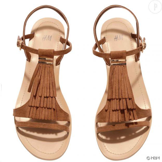 Sandales plates à franges H&M.