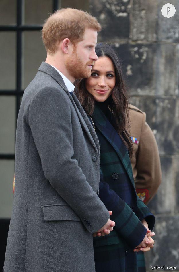 Meghan Markle, les yeux de l'amour pour une visite à Edimbourg avec Harry.