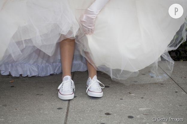 converse femmes blanche mariage