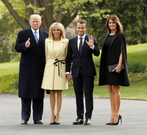 Brigitte Macron et Melania Trump : talons hauts et jambes nues à Washington