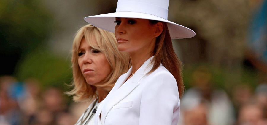 Melania Trump et son chapeau blanc sont la risée de Twitter