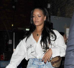 Rihanna : deux jupes en jean l'une par-dessus l'autre... et c'est stylé !