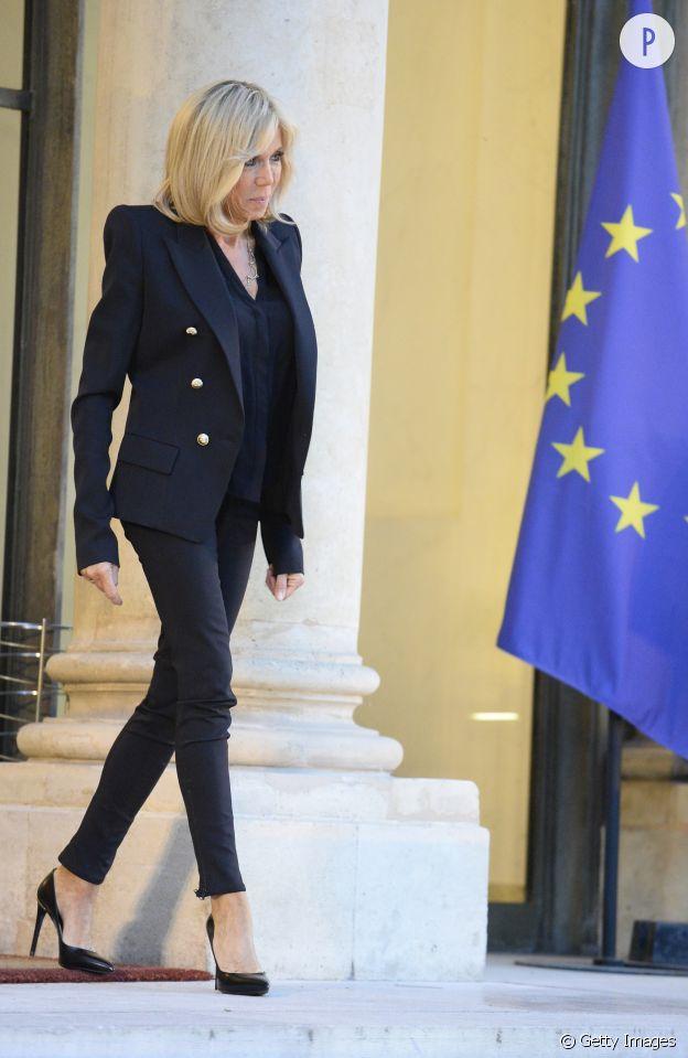 Brigitte Macron en 2017.