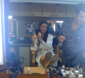 Dans les backstage avec Demi Moore...
