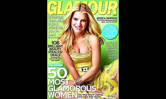 Jessica Simpson en couverture de Glamour
