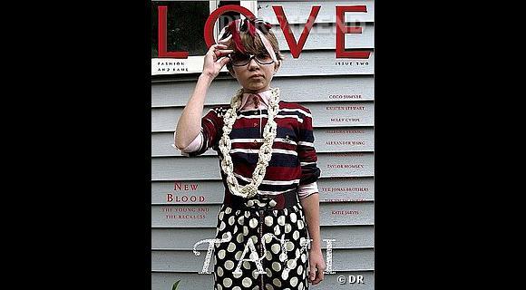 Tavi en couverture de Love Magazine